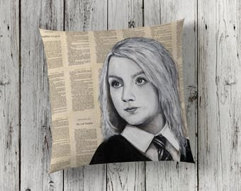 Decorative Pillow of Luna Lovegood from Harry Potter