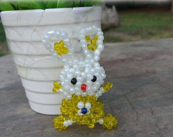 5pcs  manual Weave  Bead  Cartoon rabbit  lovely   animal Pendant