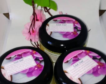 Selah Soul: Peppermint Body and Face Sugar Scrub, handmade with essential oil & organic ingredients