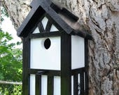 Special order for Mary (KittyKandy) special color Nesting box. Lodge brown roof and tudor style with white body