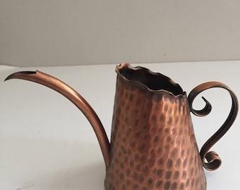 Vintage  Solid Copper  Gregorian Watering Can