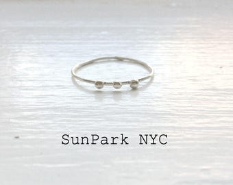 Dainty Stackable Dots Rings/Delicate Rings/Silver Ring/Thin band Ring/Plain Ring/Sterling Silver Rings/Wedding Band/Small Rings/Brides Rings