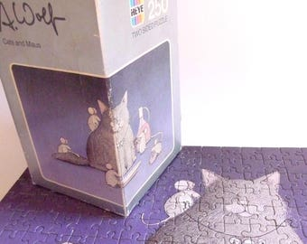 Heye Puzzle Cat and Maus Jigsaw Puzzle A. Wolf Made in Germany