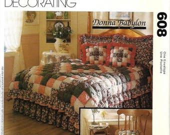 ON SALE McCall's 830/ 7164 Bedding Sewing Pattern, The Biscuit Quilt By Donna Babylon, UNCUT