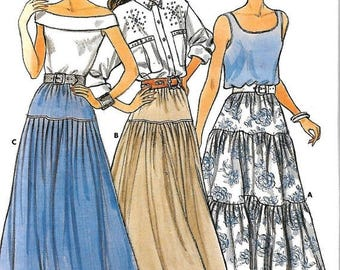 ON SALE Butterick 5609 Misses Flared And Tiered Skirt Pattern, Size Small, UNCUT