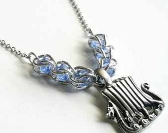 Viking Ship Necklace - Chainmail - Viking Necklace - Pewter