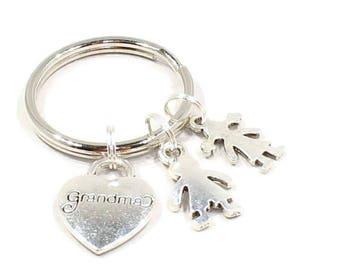 Grandmother Keychain Grandmother Keyring Love My Grandmother Gift Grandmother  Key Chain for Grandmother  K116