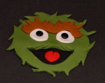 Sesame Street 2D Oscar the Grouch Edible Fondant Cake Toppers