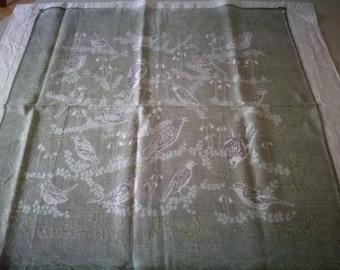 Vintage Swedish hand printed textilie - Trastar - by Jobs Hand print Leksand - Komp. Olle Ericson - 1950s