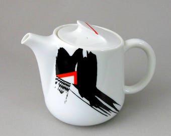 Rare Vintage Kato Kogei Japan Fujimori Teapot CONTEMPORARY Geometric Abstract Post Modern Art Design Mod Avant Gaarde Non Memphis Ex Cond