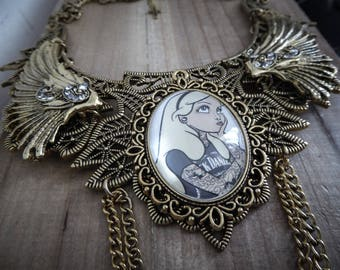 Maxi collar lace bib Golden goth ♰ Tattooed Alice in Wonderland ♰