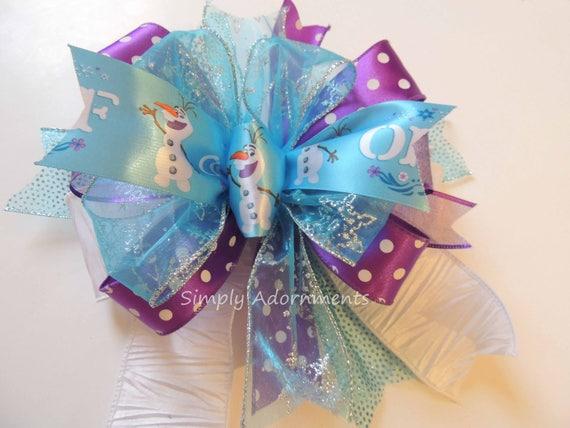 Olaf Disney Birthday Party decoration Purple Blue Frozen Disney Party Decor Frozen Olaf Birthday Decor Snowflakes Olaf Birthday Gifts Bow