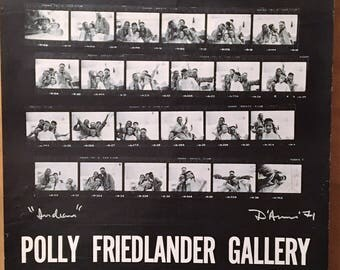 Poster of a Gallery show for Ted D'Arms, actor and artist.
