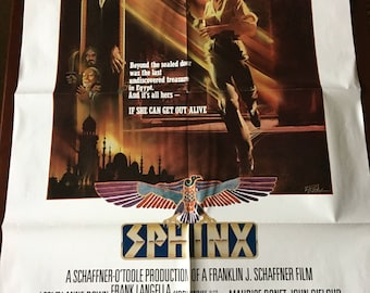 Movie poster, Sphinx with Frank Langella.