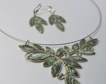 Seraphinite jewelry set ,FREE SHIPPING