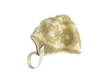 Vintage Swim Cap Playtex Retro Made in Spain Pinwheel Texture