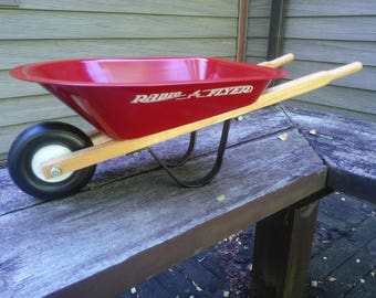 Vintage Radio Flyer Wheelbarrow - Small Radio Flyer Wheelbarrow - Red Wheelbarrow - New in Box