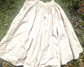 Antique French Rustic Linen Skirt