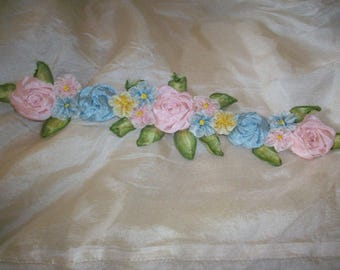 ribbon work wedding silk/rayon ribbon antique ombre