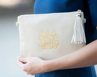 Monogram Crossbody Purse, Personalized Handbag, Monogram Clutch Purse, Bridesmaid Gift, Personalized Gift, Wedding Party Gift, Crossbody Bag