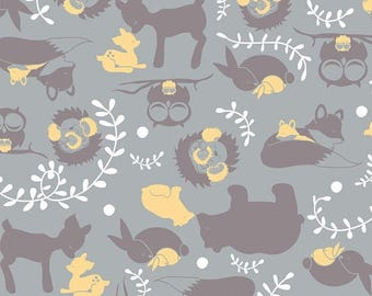 SALE - Woodland Serenity Cotton Flannel Fabric, by the half yard