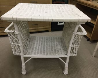 Antique Victorian Wicker Table