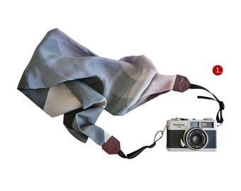 Silk Scarf Camera Strap – winter blossom, accessories, DSLR, floral, photographer, girly, nikon, canon