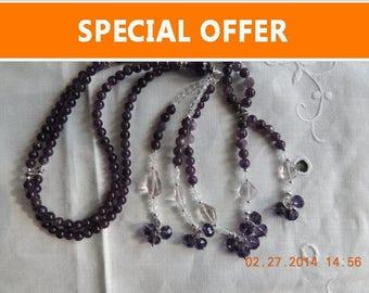 Amethyst  Nenju Juzu SGI Nichiren Juzu / Buddhist Prayer Beads - 108 beads Juzu for followers of  Buddhism