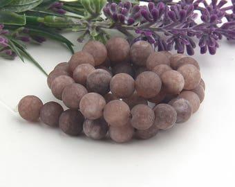 Latte, Matte Agate Mala Beads, Gemstone Mala Beads, Yoga Beads, Prayer Beads, Meditation Beads, 1 strand, 45 beads // BD-067