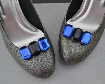 Black and Blue Shoe Clips