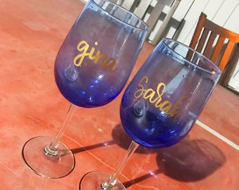 Custome Wine Glasses