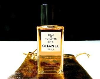 Vintage Chanel No 5 Perfume Eau de Toilette 1.7 oz 50 ml Discontinued Bottle Perfect in Gift Bag