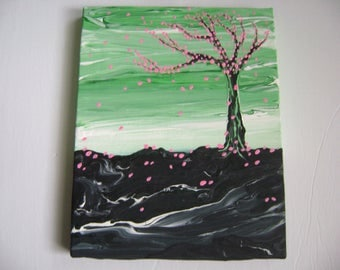 Magnolia - Original Acrylic Painting Canvas - 10 x 8