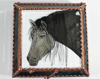 Horse Equine Jewelry Trinket Treasure Box