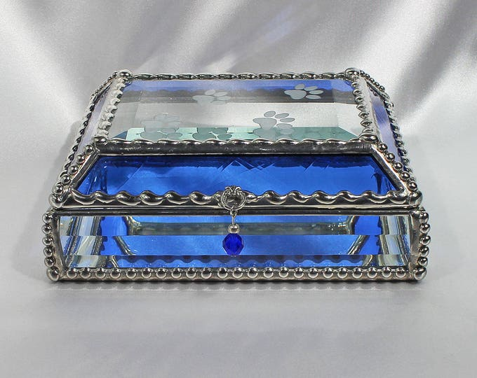 Paws, dog, canine, love, Treasure Box, stained glass box, stained glass, display box, jewelry box, , souvenir, mystic