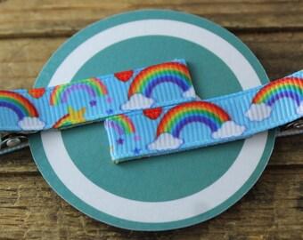Rainbow Hair Clippies