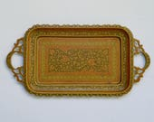 Vintage Indian Brass Tray