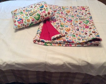 Shopkins Blanket and Pillow