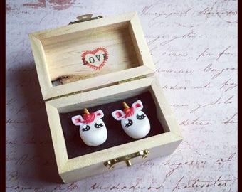 puces d oreilles unicorn lover de saint valentin