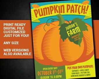 Pumpkin Patch, pumpkin, carving, farm, Fall, Harvest, festival, flyer, fundraiser, fall, advertisement, poster, flyer, printable, postcard