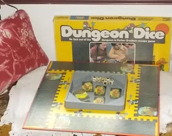Dungeon Dice Parker Brothers Game 1977, Vintage board Game, Dice Game, Vintage Game, Family Game Night  :)s iof*
