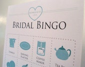 Set of 30 Custom Bridal Bingo Cards