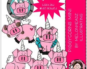 Piggycorns clip art - Mini