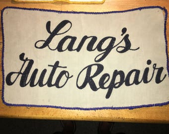 Vintage Auto Repair Patch