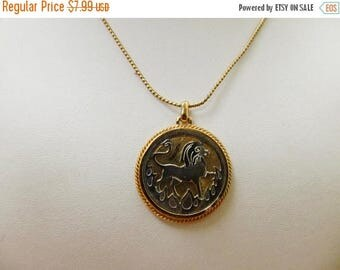 ON SALE AVON Layered Leo the Lion Zodiac Necklace Item K # 1109