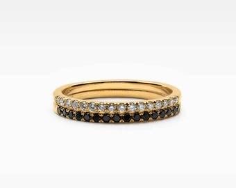 Petite Diamond Ring Pair