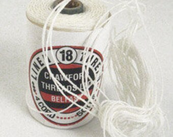 Crawford's Irish Waxed linen Thread (3-ply) for Bookbinding , leather sewing, macrame -  5m (5.46 yards)  Choose your color