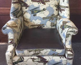 Aviator Enthusiast Wingback Chair
