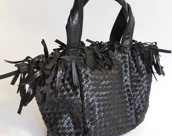 Genuine Leather Handbag/ Shoulder Bag/Leather Shoulder Tote/ Genuine Leather Bag/ Leather Handbags/ Leather Purse/ Leather Fringe Bag