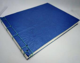 Blue Traditional Japanese Stab Binding Sketchbook Journal Notebook Album Book Medium